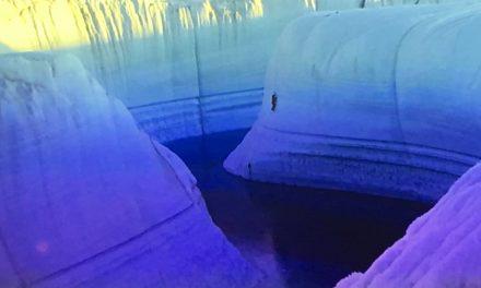 Isen hæver sig 4 cm om året